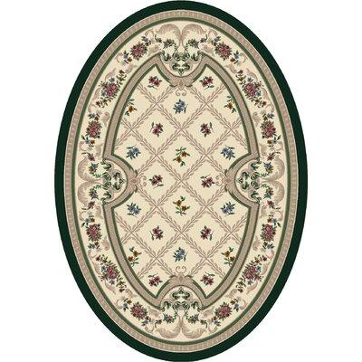 Signature Vanderbilt Opal Peridot Area Rug Rug Size: Oval 310 x 54
