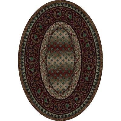 Signature Mohavi Dark Amber Area Rug Rug Size: Oval 54 x 78