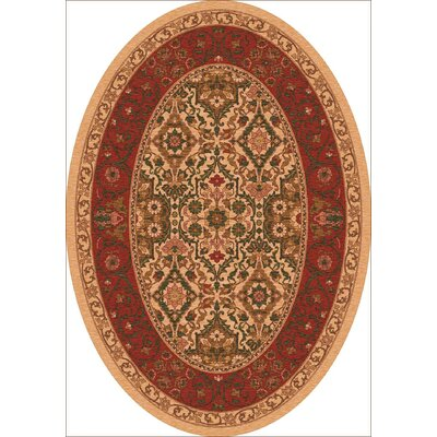 Pastiche Sandakan Flaxen Brown Area Rug Rug Size: Oval 78 x 109