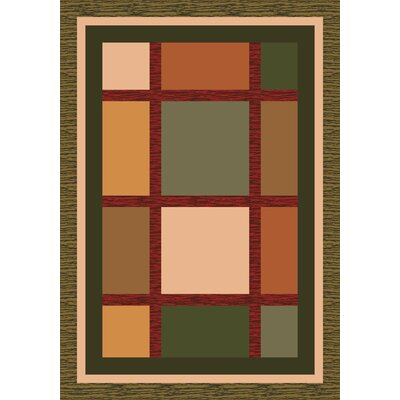 Pastiche Ababa Dark Olive Rug Rug Size: Rectangle 78 x 109