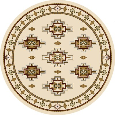 Signature Prairie Star Opal Area Rug Rug Size: Round 77