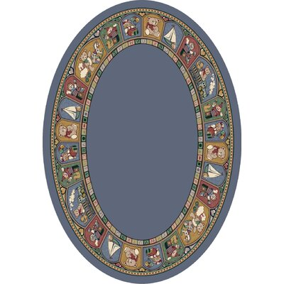 Signature Toy Parade Lapis Area Rug Rug Size: Oval 54 x 78