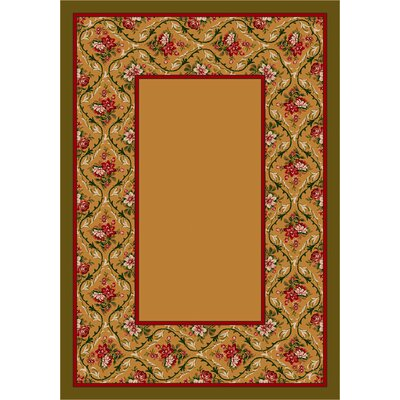 Design Center Maize Bouquet Lace Area Rug Rug Size: 78 x 109