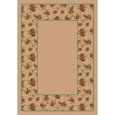 Design Center Pearl Cameo Rose Area Rug Rug Size: 78 x 109