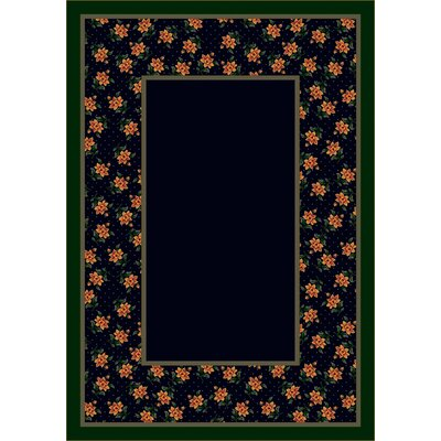Design Center Sapphire Rambling Rose Area Rug Rug Size: 54 x 78