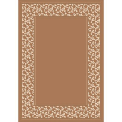 Design Center Light Sandstone Ivy League Area Rug Rug Size: Round 77
