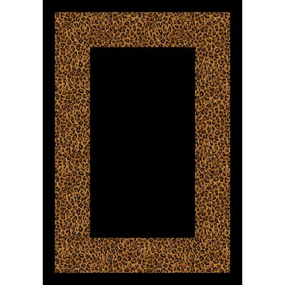 Design Center Golden Leopard Wasabu Area Rug Rug Size: Round 77
