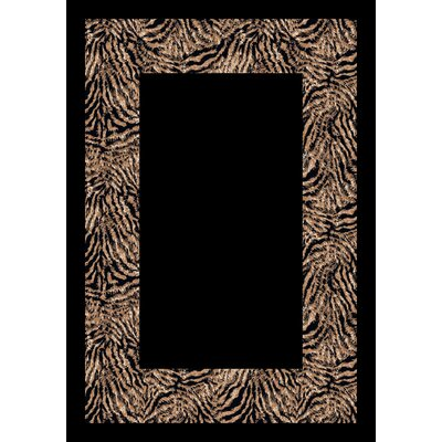 Design Center Black/Gray Matamba Zebra Area Rug Rug Size: Round 77