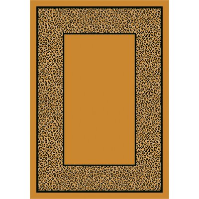 Design Center Light Leopard Asmora Area Rug Rug Size: Rectangle 109 x 132