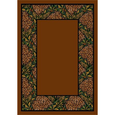 Design Center Nakura Trellis Leopard Area Rug Rug Size: 109 x 132