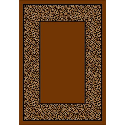 Design Center Brown Simaruba Cheetah Area Rug Rug Size: Round 77