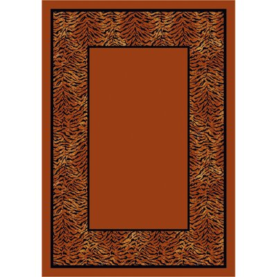 Design Center Red Domo Tiger Area Rug Rug Size: 109 x 132