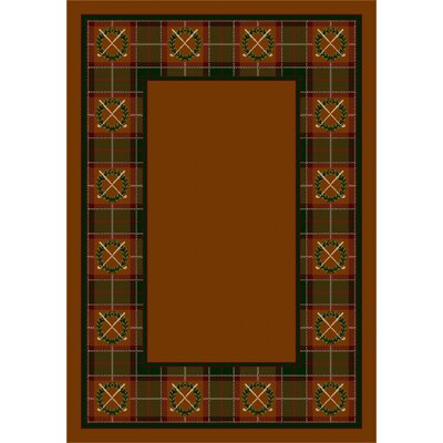 Design Center Dark Amber Country Clubs Area Rug Rug Size: Round 77