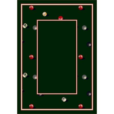 Design Center Emerald Billiards Area Rug Rug Size: 109 x 132