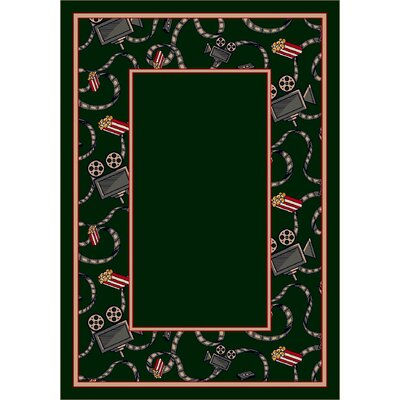Design Center Emerald Intermission Area Rug Rug Size: Round 77