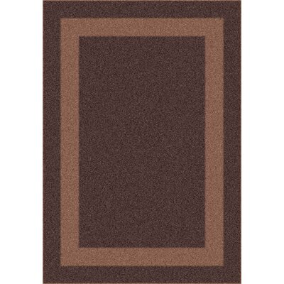 Modern Times Bailey Dark Brown Area Rug Rug Size: Oval 54 x 78