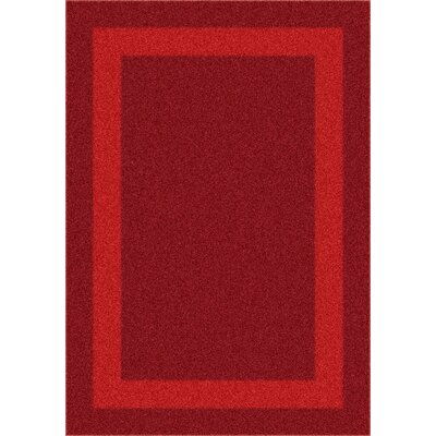 Modern Times Bailey Tapestry Red Area Rug Rug Size: 109 x 132