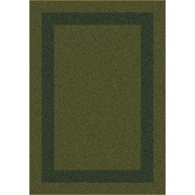 Modern Times Bailey Deep Olive Area Rug Rug Size: Rectangle 109 x 132