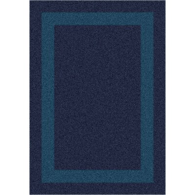 Modern Times Bailey Midnight Area Rug Rug Size: Oval 54 x 78