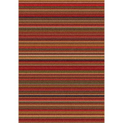 Modern Times Canyon Dark Red Area Rug Rug Size: Oval 54 x 78