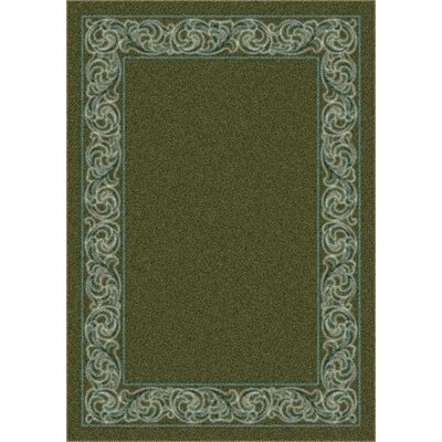 Modern Times Sonata Deep Olive Area Rug Rug Size: Rectangle 54 x 78