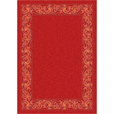 Modern Times Sonata Indian Red Area Rug Rug Size: Oval 310 x 54