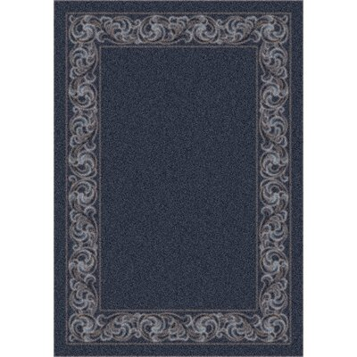 Modern Times Sonata Charcoal Area Rug Rug Size: Rectangle 109 x 132