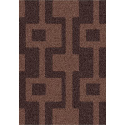 Modern Times Uptown Dark Chocolate Area Rug Rug Size: Rectangle 109 x 132