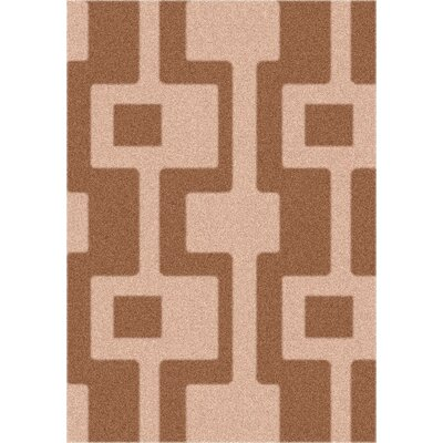 Modern Times Uptown Sorrel Area Rug Rug Size: Rectangle 54 x 78