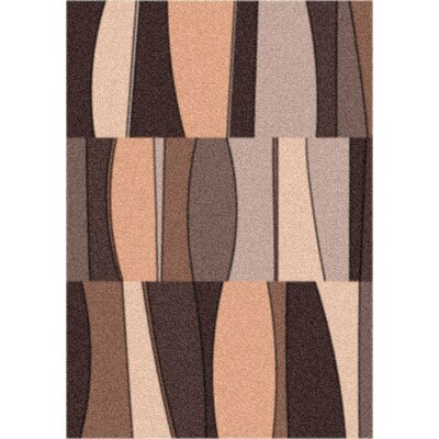 Modern Times Sinclair Dark Chocolate Area Rug Rug Size: Oval 310 x 54