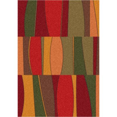 Modern Times Red Area Rug Rug Size: Rectangle 78 x 109