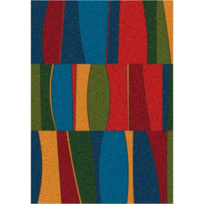 Modern Times Sinclair Summer Night Area Rug Rug Size: Oval 54 x 78