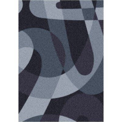 Modern Times Element Ebony Area Rug Rug Size: Oval 54 x 78