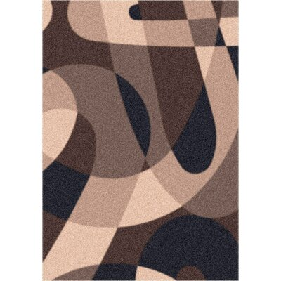 Modern Times Element Dark Brown  Area Rug Rug Size: 54 x 78