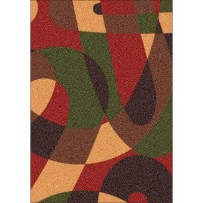 Modern Times Element Russet Area Rug Rug Size: Rectangle 54 x 78