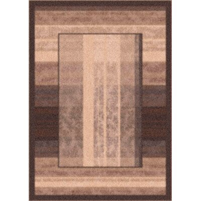 Modern Times Aspire Dark Brown Area Rug Rug Size: Rectangle 78 x 109