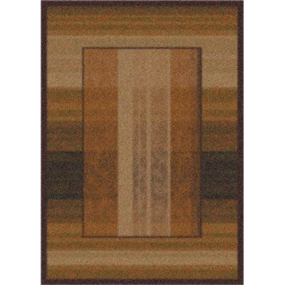 Modern Times Aspire Dark Chocolate Area Rug Rug Size: 109 x 132