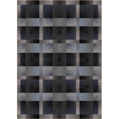 Modern Times Aura Charcoal Area Rug Rug Size: Rectangle 3'10