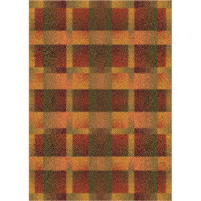 Modern Times Aura Fall Orange Area Rug Rug Size: 109 x 132