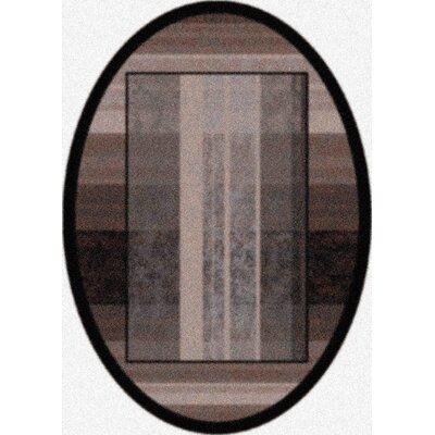 Modern Times Aspire Ebony Area Rug Rug Size: Oval 54 x 78