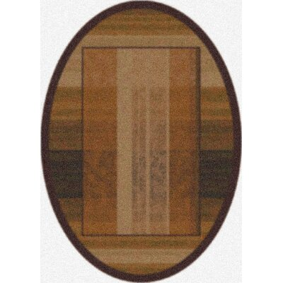 Modern Times Aspire Dark Chocolate Area Rug Rug Size: Oval 310 x 54