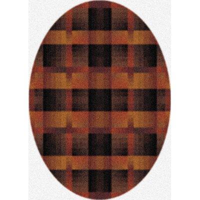 Modern Times Aura Caf� Cr�me Area Rug Rug Size: Oval 310 x 54