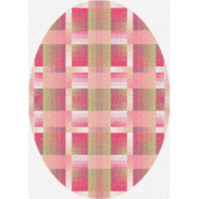 Modern Times Aura Pinky Area Rug Rug Size: Oval 310 x 54