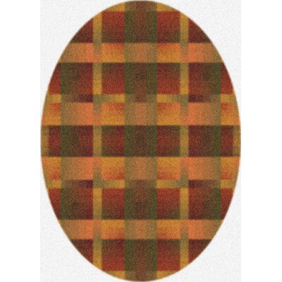 Modern Times Aura Fall Orange Area Rug Rug Size: Oval 54 x 78