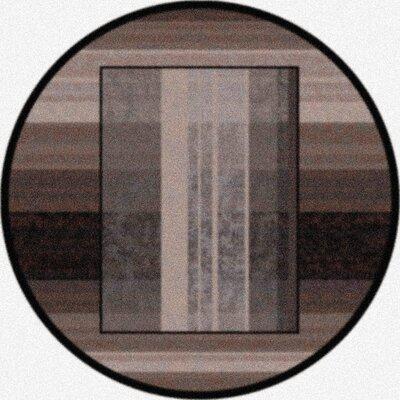 Modern Times Aspire Ebony Area Rug Rug Size: Round 77
