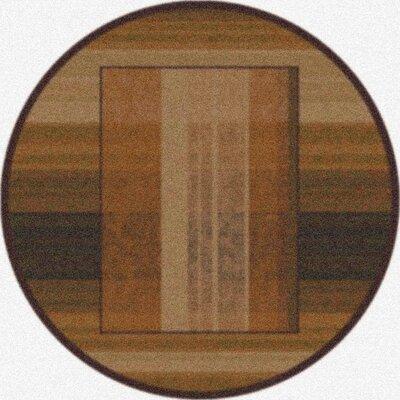 Modern Times Aspire Dark Chocolate Area Rug Rug Size: Round 77