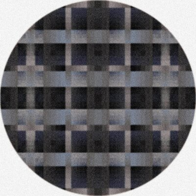 Modern Times Aura Charcoal Area Rug Rug Size: Round 77