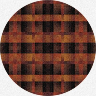 Modern Times Aura Caf� Cr�me Area Rug Rug Size: Round 77