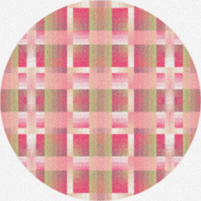 Modern Times Aura Pinky Area Rug Rug Size: Round 77
