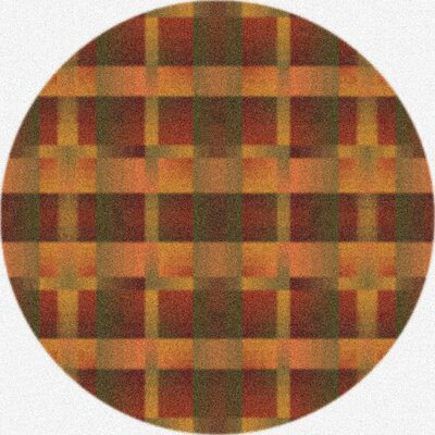 Modern Times Aura Fall Orange Area Rug Rug Size: Round 77